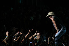Kenny Chesney. Performs live in Chicago for the Brothers of the Sun Tour Royalty Free Stock Photo