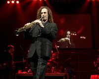 Kenny G performs in concert royalty free stock photo