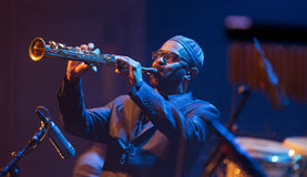 Kenny Garrett выполняет 28-ого апреля джаз в реальном маштабе времени Стоковое Изображение RF