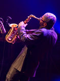 Kenny Garrett utför direkt på 28th April Jazz Royaltyfri Bild