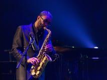 Kenny Garrett voert levend op 28ste April Jazz uit Stock Foto's