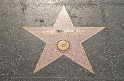 Kenny Rogers' Star on the Hollywood Walk of Fame Royalty Free Stock Photos