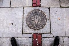 Kennzeichen auf der Freiheits-Spur Boston in Massachusettes Stockbild