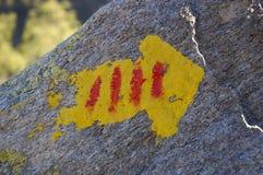 Kennzeichen im Felsen Lizenzfreie Stockfotos