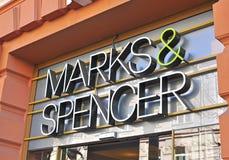 Kennzeichen- und Spencer-Logo Stockbilder