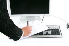 Kennzeichnen eines Formulars Stockfoto