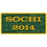 Kennzeichnen Sie auf Sochi 2014 Stockfoto