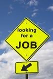 Kennzeichnen Sie das Suchen nach einem Job Lizenzfreies Stockbild