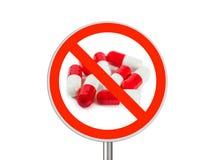 Kennzeichnen Sie keine Pillen lizenzfreie stockfotografie