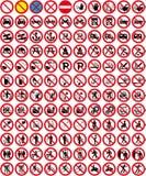Kennzeichnet Ansammlung 3 - kein Zeichen (+ Vektor) Lizenzfreie Stockfotografie