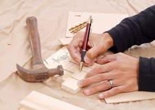 Kennzeichnung der Teile stockfoto