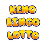 Keno Bingo Lotto Stock Photo