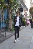 Keno Eckert-Ludwig während der London-Mode-Woche lizenzfreie stockfotos