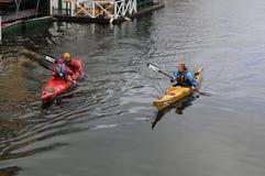 KENO SPORTS. Copenhagen_Denmark _13..April 2017_ Keno sports men and woman sailing in Christianshavn canal . Photo. Francis Dean/Deanpictures royalty free stock photo