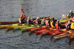 KENO SPORTS. 25 September 2016- Keno sport instructor giving instruction to keno sailors in Copenhagen / Denmark / Photo stock images