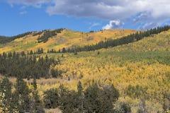 Kenosha-Durchlauf Colorado mit dem Ändern von Jahreszeiten Stockfotografie
