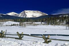 Kenosha Pass in Colorado During Winter Stock Photos