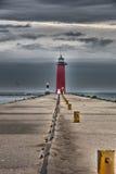 Kenosha Pierhead latarnia morska Obrazy Royalty Free