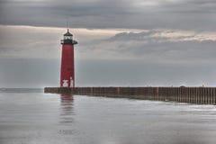 Kenosha Pierhead latarnia morska Obraz Royalty Free