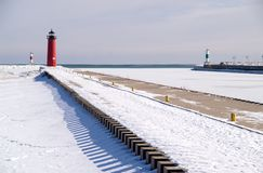 Kenosha Pierhead Lighthouse, Stock Photos