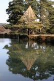 Kenroku-en en hiver Images libres de droits