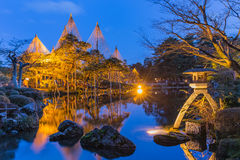 Kenroku-en Garden in Kanazawa, Japan. Royalty Free Stock Photos