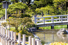 Kenroku-en garden view in Kanazawa, Japan Royalty Free Stock Photography