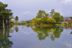 Kenroku-en gardens in Japan Royalty Free Stock Image