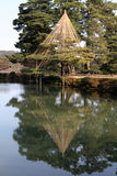 Kenroku-Kenroku-en in de winter Royalty-vrije Stock Afbeeldingen