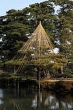 Kenroku-Kenroku-en in de winter Stock Afbeeldingen