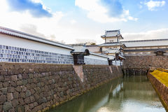 Kenrokuen Garden and Kanazawa Castle Park in Kanazawa, Japan.  royalty free stock image