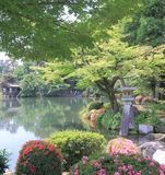Kenrokuen famous Japanese Garden Kanazawa Japan  Royalty Free Stock Photography