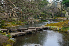 Kenrokuen Garden in Kanazawa, Japan Royalty Free Stock Photos