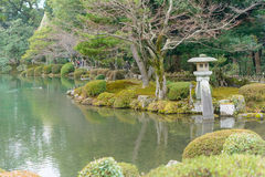 Kenrokuen Garden in Kanazawa, Japan Royalty Free Stock Photography