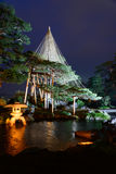 Kenrokuen Garden at night in Kanazawa, Japan Royalty Free Stock Image