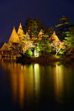 Kenrokuen Garden at night in Kanazawa, Japan Stock Images