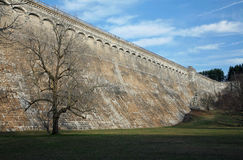 Kensico Dam, NY. A large reservoir dam located in Valhalla, NY Royalty Free Stock Image