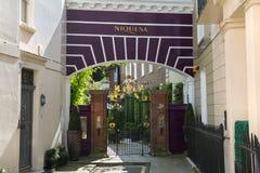 Жилая ария Kensington и Челси Ворота Cadogan со строкой периодических зданий Роскошное свойство в центре Лондона стоковая фотография