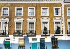 Жилая ария Kensington и Челси Ворота Cadogan со строкой периодических зданий Роскошное свойство в центре Лондона стоковые изображения rf
