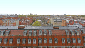 Kensington and Chelsea. View Over Kensington and Chelsea Roofs in London stock images