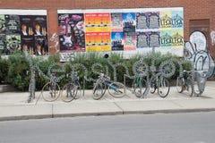 Kensington cycle rack Stock Images