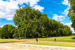 The Kensington Gardens and Hide Park, London, UK Royalty Free Stock Photography