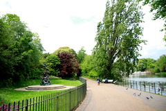 Kensington Gardens and Hyde Park area Royalty Free Stock Images
