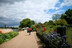 Kensington Gardens and Hyde Park area Stock Photo