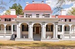 Kensington Mansion, South Carolina. Front entrance to Kensington Mansion, an old 18th Century southern plantation near Columbia, South Carolina Royalty Free Stock Photography