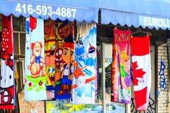 Kensington marknadsgrafitti Toronto Kanada Arkivfoton