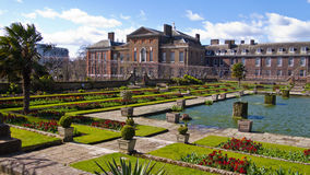 Kensington Palace and Gardens, London, England, United Kingdom. London, United Kingdom - March 31, 2015: Kensington Palace and Gardens. Incidental people in Stock Images