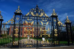 Kensington Palace gate. London, England Stock Photography