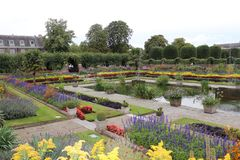 Kensington Palace, London, England. Sunken Garden Royalty Free Stock Image