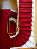 Kensington palace red stairwell Stock Photo
